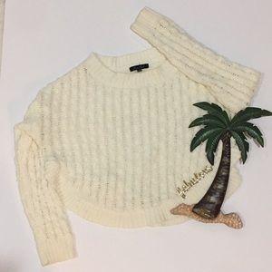 Honey Punch cream scoop neck sweater